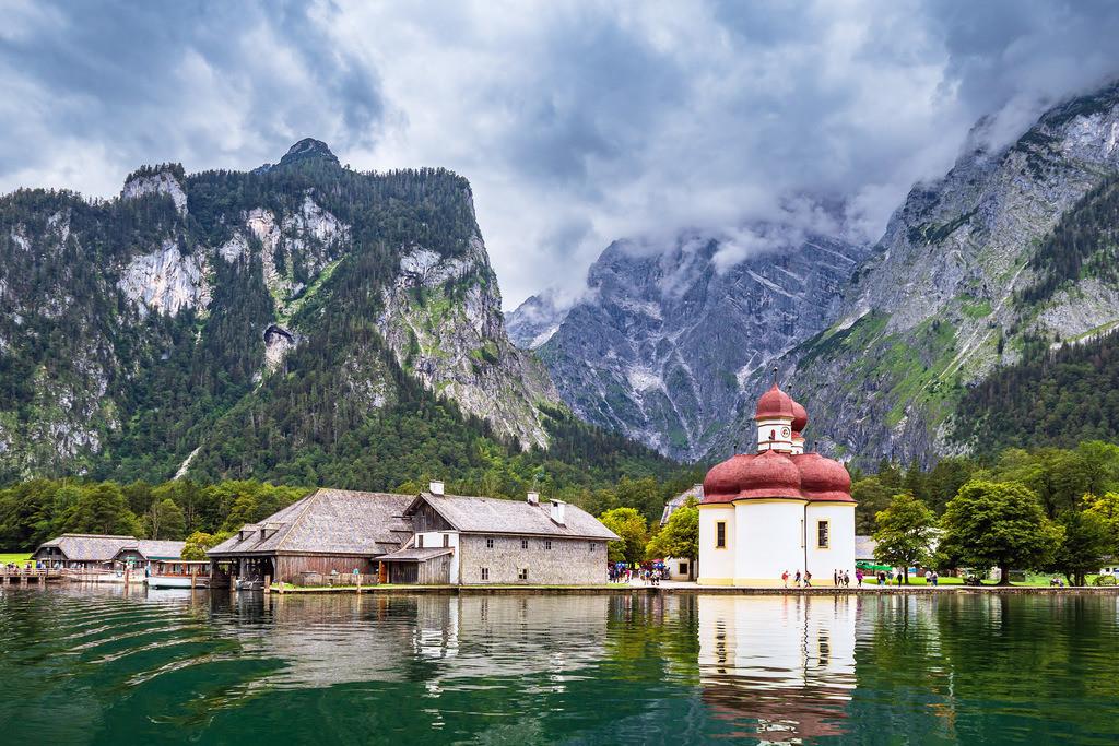Blick auf den Königssee im Berchtesgadener Land | Blick auf den Königssee im Berchtesgadener Land.