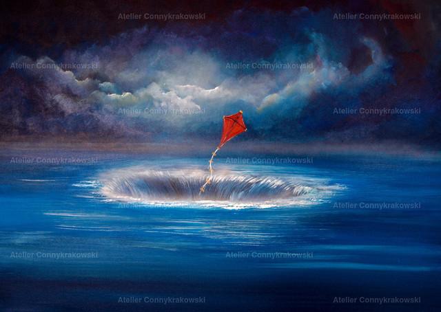 Drachen sollen fliegen 4000x300_bearbeitet-1 | Phantastischer Realismus aus dem Atelier Conny Krakowski. Verkäuflich als Poster, Leinwanddruck und vieles mehr.