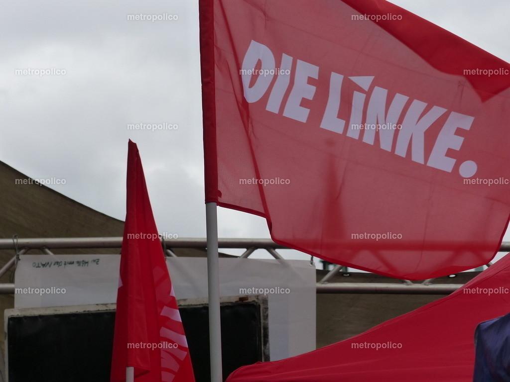Die Linke Banner und Flagge weht (1)