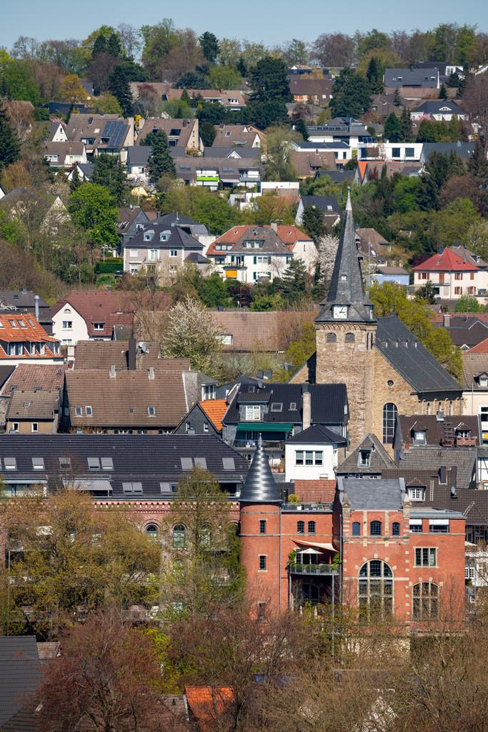 JT-200411-007 | Die Altstadt von Essen-Kettwig, im Süden der Stadt, mit der Marktkirche, Essen, Deutschland,