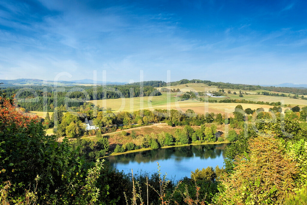Landschaft am Weinfelder Maar | Blick übers Weinfelder Maar in Daun, Vulkaneifel