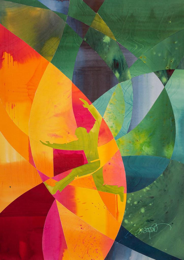 1-grosser-Zusammenhang_4226 | Der große Zusammenhang. Wir laufen alle im gleichen gesamten Geschehen, aber jeder sieht es anders. Das Erkennen ist lückenhaftes Stückwerk der Lauf im Leben komplex. Irgendwie alles anders, und seltsam ähnlich. Uns umgibt ein Geheimnis.  Die farbenstarken Originale sind alle aus 8 Farbflächen geschnitten, danach alle wechselnd zusammengesetzt und auf starkes Papier geklebt. (50 x 70 cm) Einzeln oder als bunte Serie erhältlich. Bitte Kontakt aufnehmen.