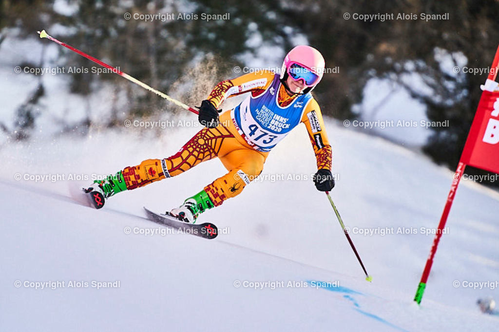 ALS6051_WWMG_GS-II_C | (C) FotoLois.com, Alois Spandl, WinterWorldMastersGames 2020 Innsbruck, Giant Slalom-II Gruppe C Damen, Patscherkofel Olympiaabfahrt, Mi 15. Jänner 2020.