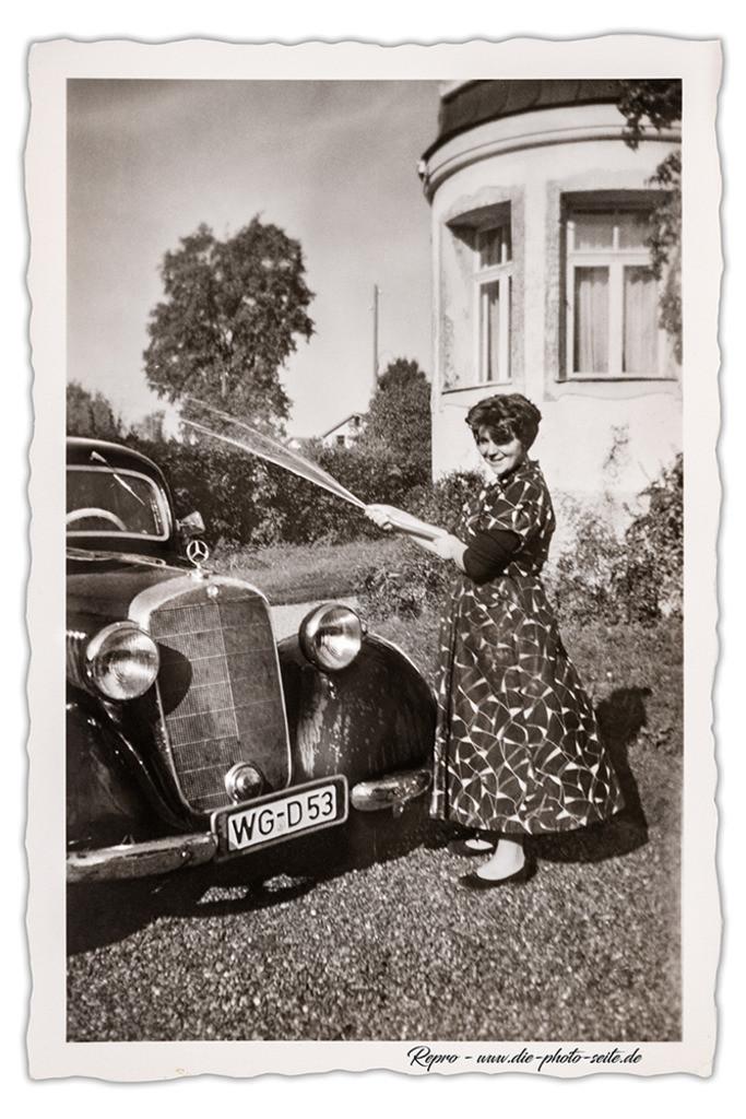 Mercedes W 136 | Mercedes bei der Wäsche