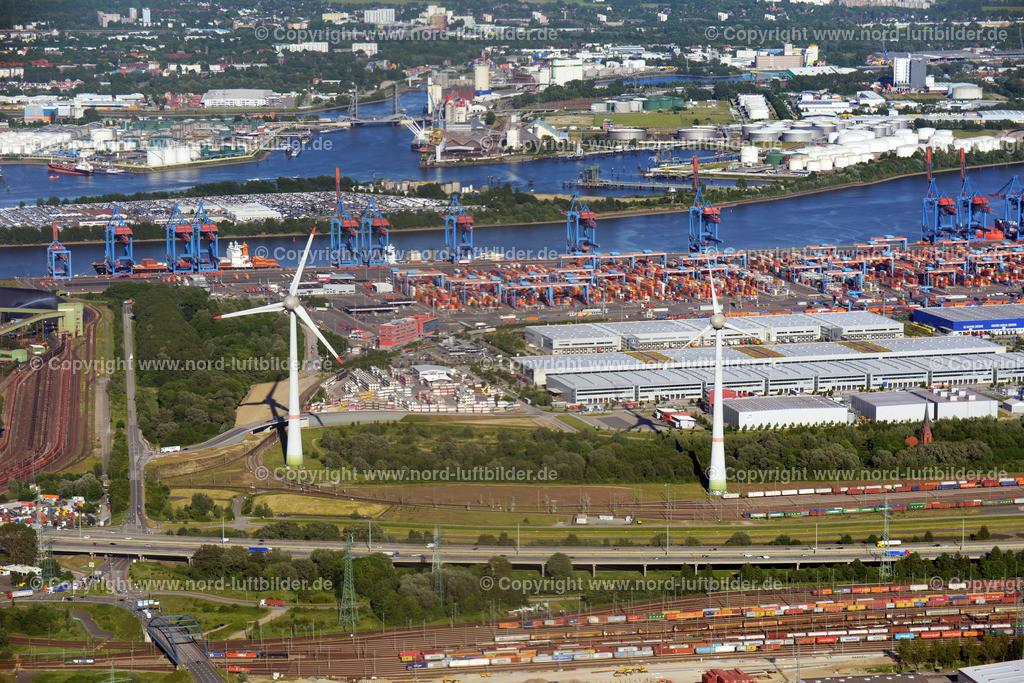 Hamburg Altenwerder Windkraftanlagen_ELS_8353020617 | Hamburg - Aufnahmedatum: 01.06.2017, Aufnahmehöhe: 507 m, Koordinaten: N53°30.896' - E9°52.797', Bildgröße: 7360 x  4912 Pixel - Copyright 2017 by Martin Elsen, Kontakt: Tel.: +49 157 74581206, E-Mail: info@schoenes-foto.de  Schlagwörter:Hamburg,Luftbild, Luftbilder, Deutschland