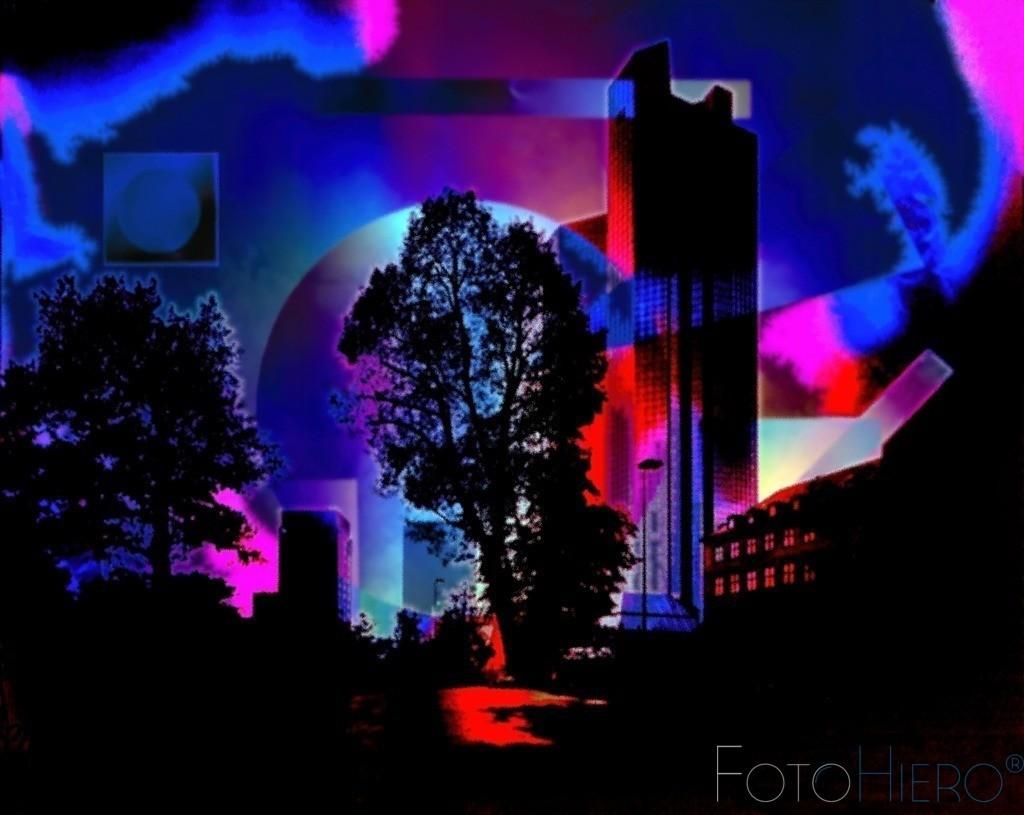 Frankfur Grafik Abstrakt | Grafisch, abstrake Darstellung einen Hochhauses