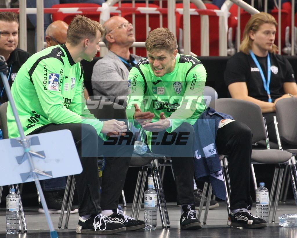 Handball Supercup | Finn Zecher (links) und Peter Johannesson - © by K-Media-Sports / Sportfoto-Sale.de