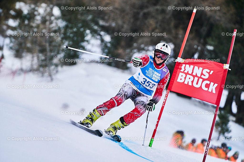 ALS5425_WWMG_GS-II_C | (C) FotoLois.com, Alois Spandl, WinterWorldMastersGames 2020 Innsbruck, Giant Slalom-II Gruppe C Damen, Patscherkofel Olympiaabfahrt, Mi 15. Jänner 2020.