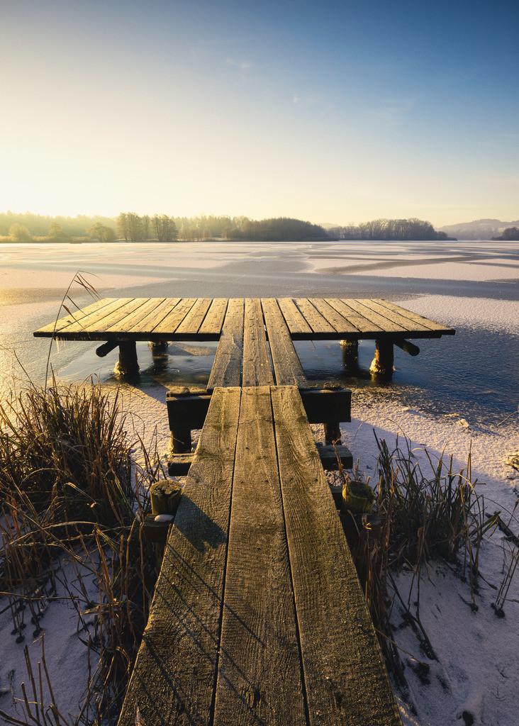 The Blast | Pralle Morgensonne an einem eiskalten Wintermorgen am Bossee