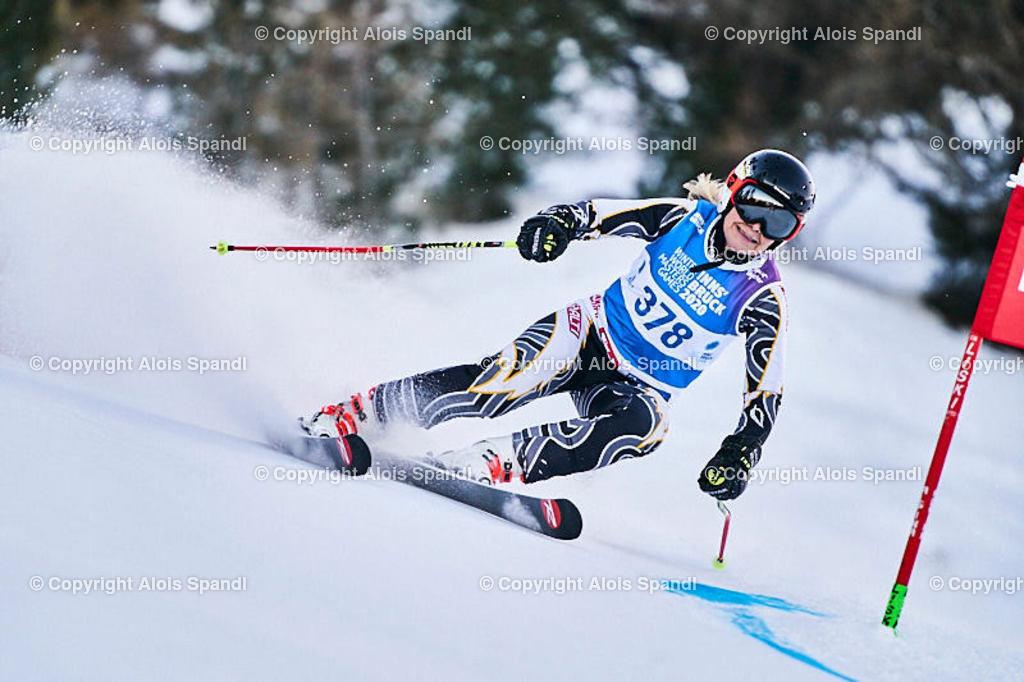 ALS5570_WWMG_GS-II_C | (C) FotoLois.com, Alois Spandl, WinterWorldMastersGames 2020 Innsbruck, Giant Slalom-II Gruppe C Damen, Patscherkofel Olympiaabfahrt, Mi 15. Jänner 2020.