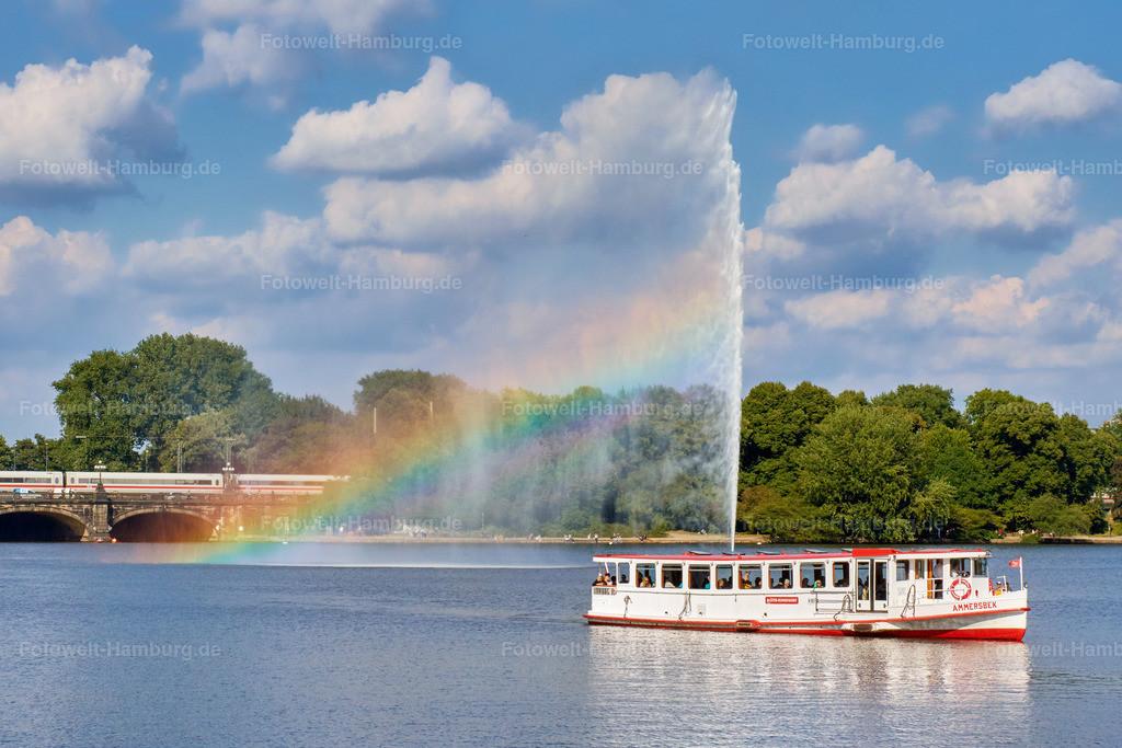 11794352 - Alsterfontäne und Regenbogen