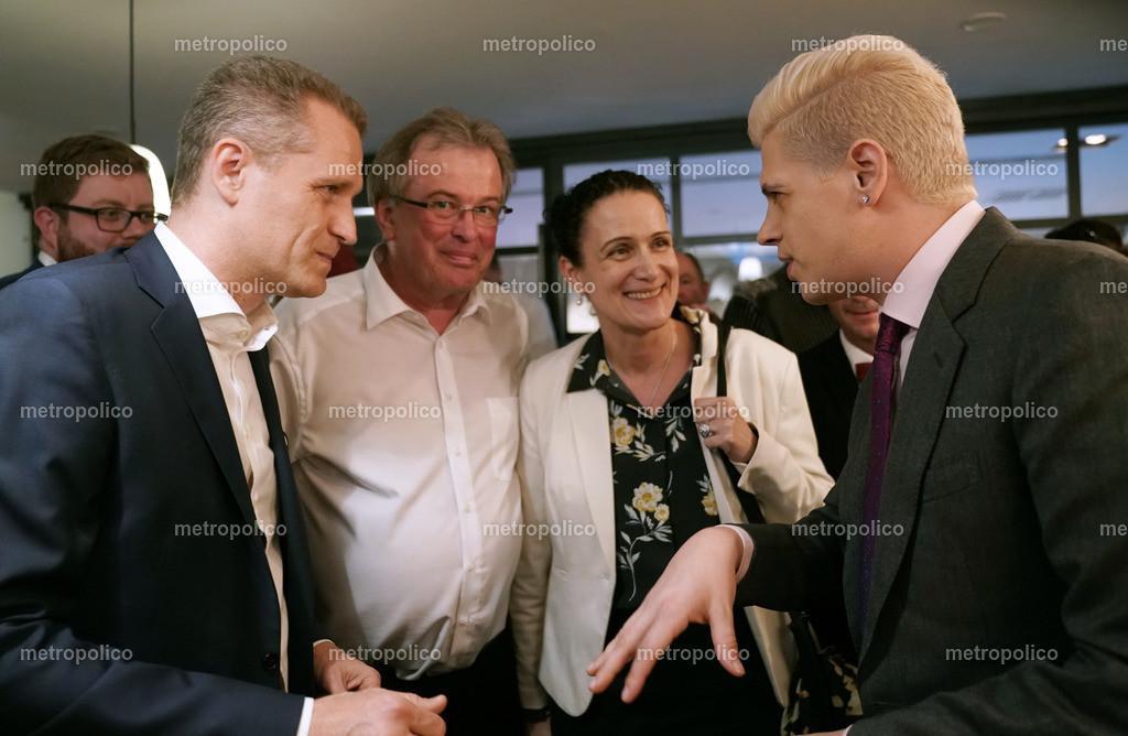 Milo Yiannopoulos im Gespräch mit Petr Bystron_ Udo Hemmelgarn sowie Nicole Höchst