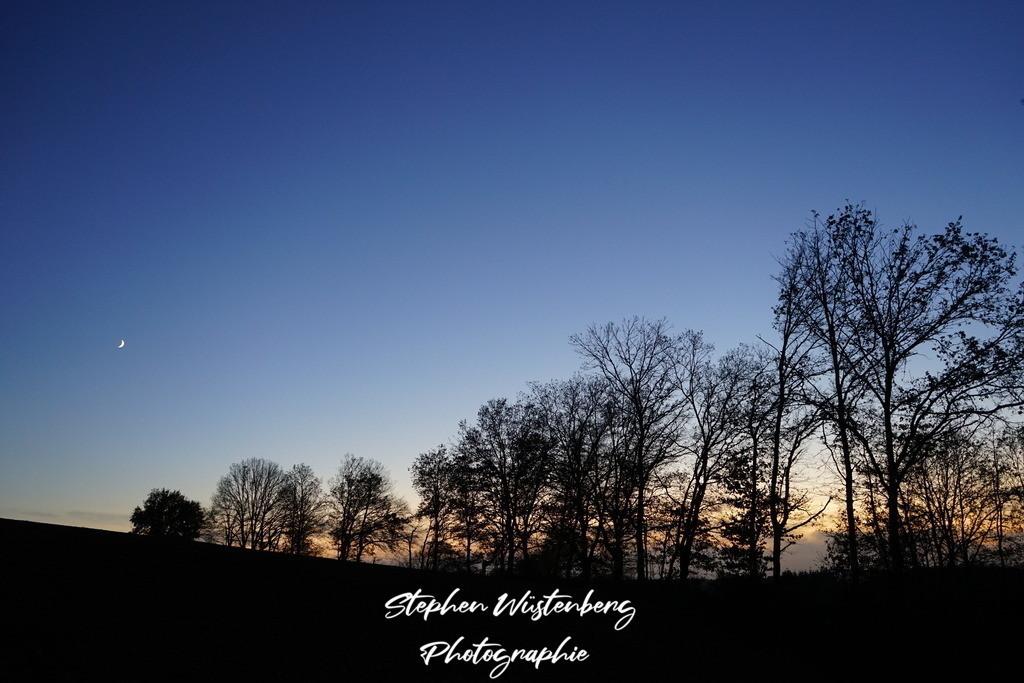 Blaue Stunde Waroba | Blaue Stunde in Waroba mit Sichelmond