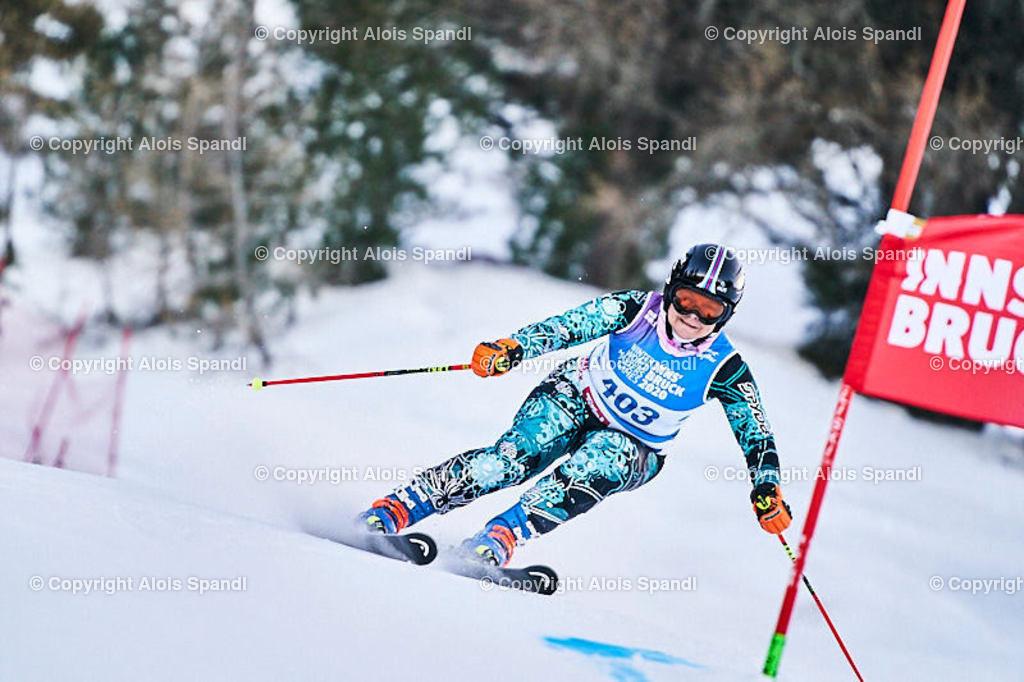 ALS5697_WWMG_GS-II_C | (C) FotoLois.com, Alois Spandl, WinterWorldMastersGames 2020 Innsbruck, Giant Slalom-II Gruppe C Damen, Patscherkofel Olympiaabfahrt, Mi 15. Jänner 2020.