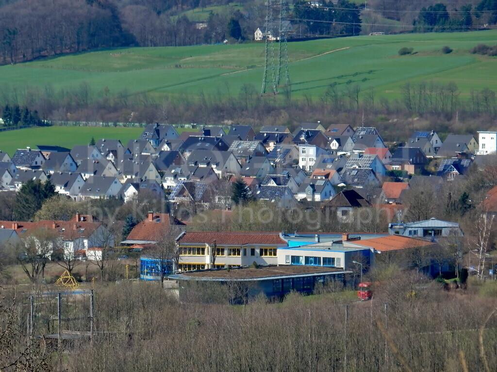 Wohngebiet Auf der Emst | Panoramaaufnahme vom Wohngebiet Auf der Emst in Iserlohn.