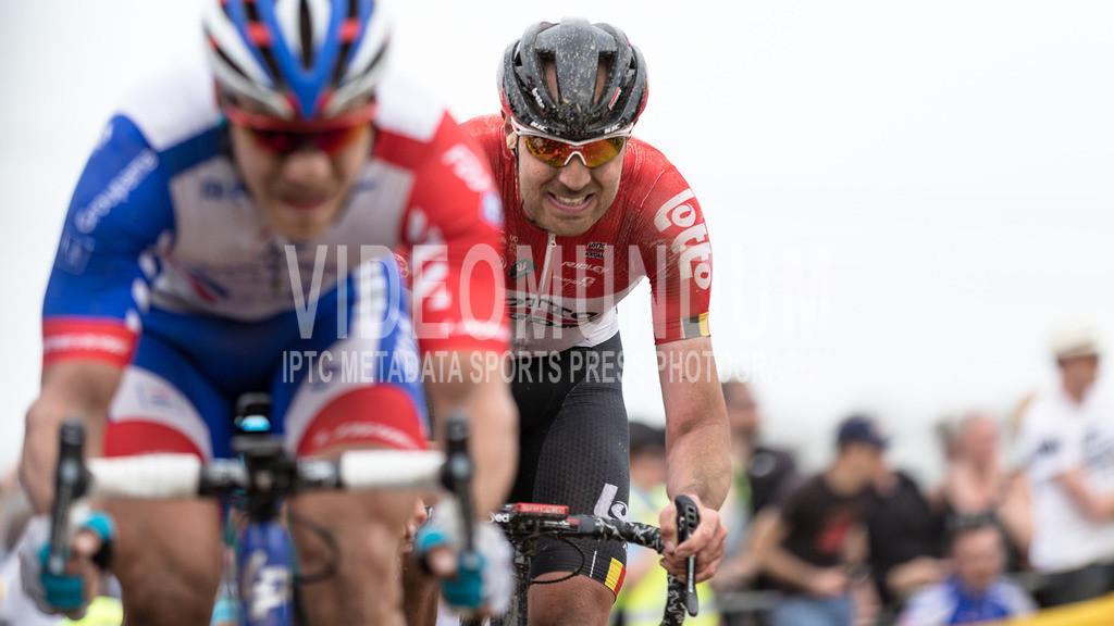 Mons-en-Pévèle, France - April 8, 2018: Paris-Roubaix UCI men elite road racing event | Mons-en-Pévèle, France - April 8, 2018: Paris-Roubaix UCI men elite road racing event, Photo: videomundum