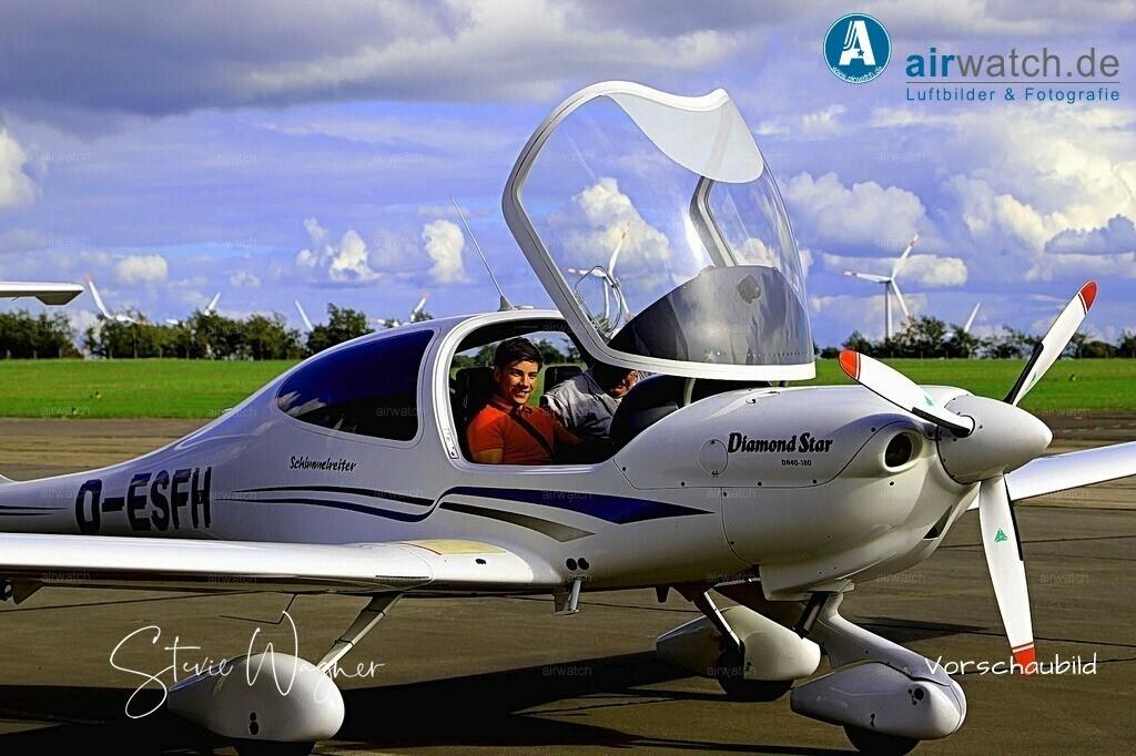 Flughafen Husum, Diamond DA 40 | Flughafen Husum, Diamond DA 40 • max. 6240 x 4160 pix