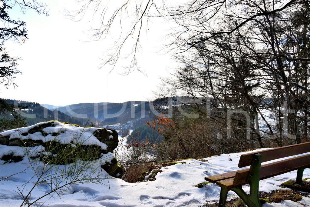 Tellerlay - Blick ins Liesertal   Aussichtspunkt Tellerlay, Daun Üdersdorf in der Vulkaneifel