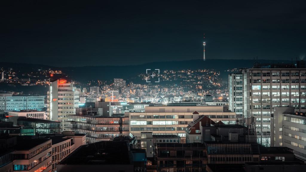 Stadtpanorama by night