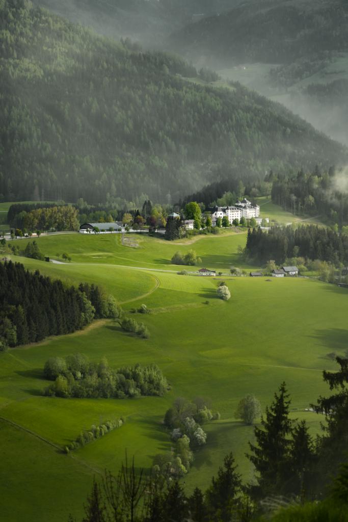 Blütensturm | Das steirische Schloss Pichlarn wurde von einem Sturm getroffen - einem Sturm aus Pollen. Dieses Naturspektakel, auch bekannt als