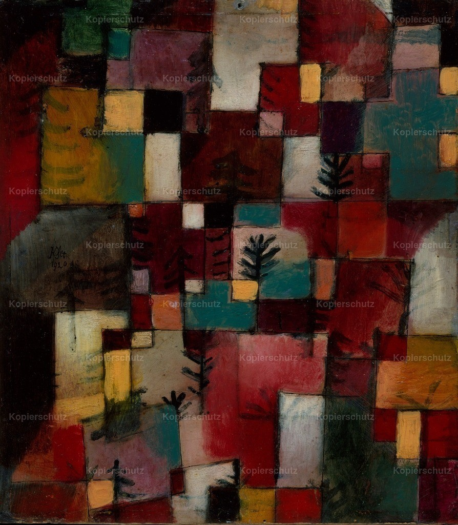 Klee_ Paul (1879-1940) - Redgreen and Violet-yellow Rhythms 1920