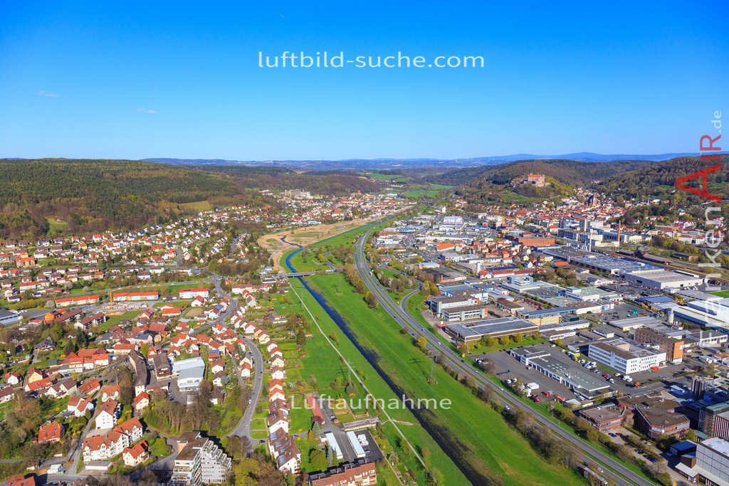 kulmbach-2016-3199 | Luftbild von  Kulmbach - Luftaufnahme wurde 2016 von https://frankenair.de mittels Flugzeug (keine Drohne) erstellt - die Geschenkidee