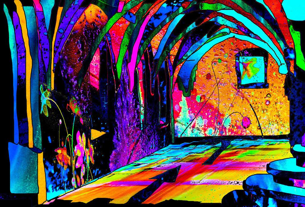 Kreuzgang2 | Projektionsmotive der Kunstevents