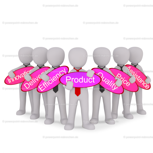 standing together with a team of marketing for the product | standing together with a team of marketing for the product