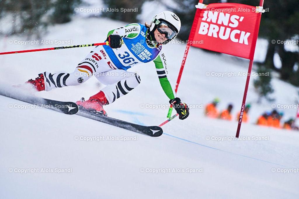 ALS5454_WWMG_GS-II_C | (C) FotoLois.com, Alois Spandl, WinterWorldMastersGames 2020 Innsbruck, Giant Slalom-II Gruppe C Damen, Patscherkofel Olympiaabfahrt, Mi 15. Jänner 2020.