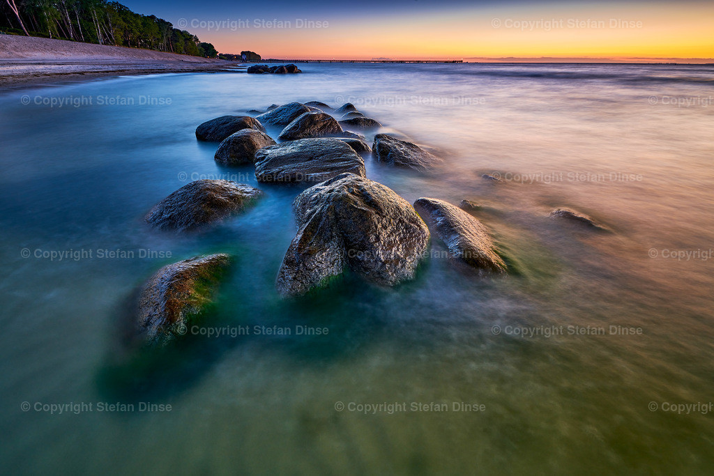 rocky baltic seascape in the evening | rocky baltic seascape in the evening