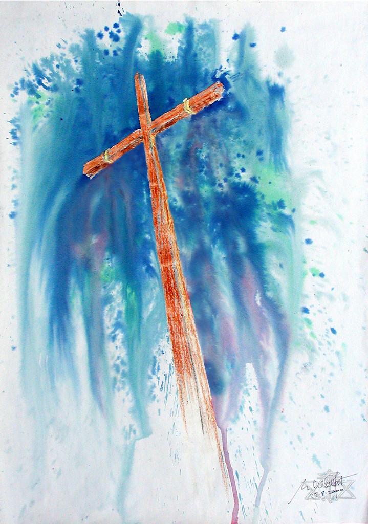 Leeres Kreuz   Er ist eben auferstanden