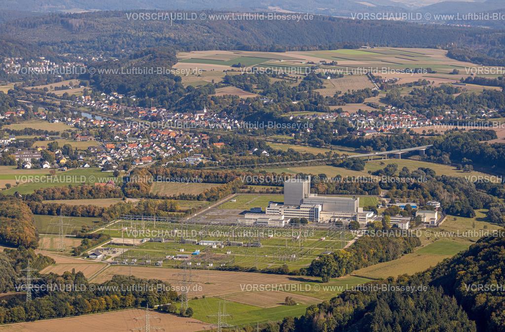 Beverungen200911499Wuergassen   Luftbild, Ehemaliges Kernkraftwerk Würgassen, Würgassen, Beverungen, Ostwestfalen-Lippe, Nordrhein-Westfalen, Deutschland