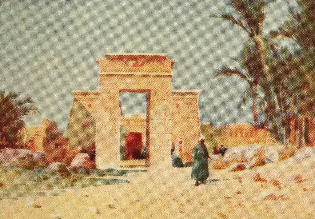 Lamplough_ A.O. (1877-1930) - Egypt _ how to see it 1907 - Archway at Euergetes_ Karnak