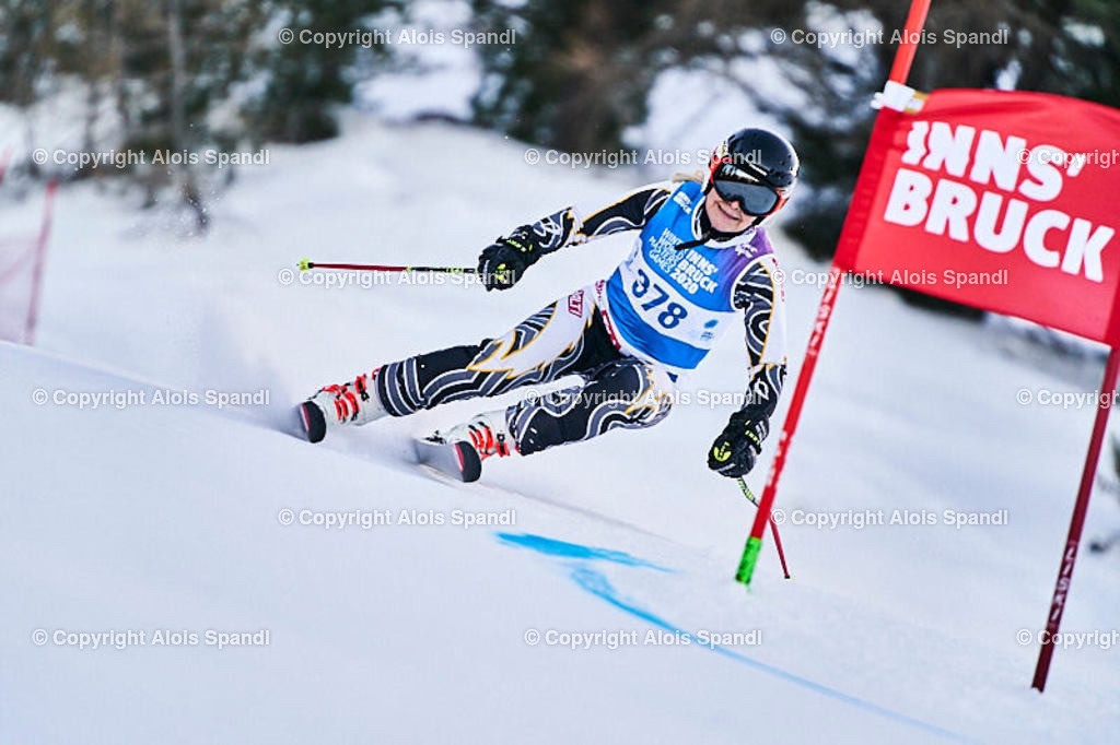 ALS5568_WWMG_GS-II_C | (C) FotoLois.com, Alois Spandl, WinterWorldMastersGames 2020 Innsbruck, Giant Slalom-II Gruppe C Damen, Patscherkofel Olympiaabfahrt, Mi 15. Jänner 2020.