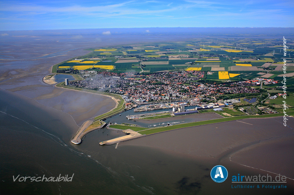 Nordsee, Schleswig- Holstein, Kreis Dithmarschen, Urlaubsort Buesum   Nordsee, Buesum • max. 4272 x 2848 pix -  Luftbild, Luftaufnahme, aerophoto, Luftbildfotografie, Luftbilder