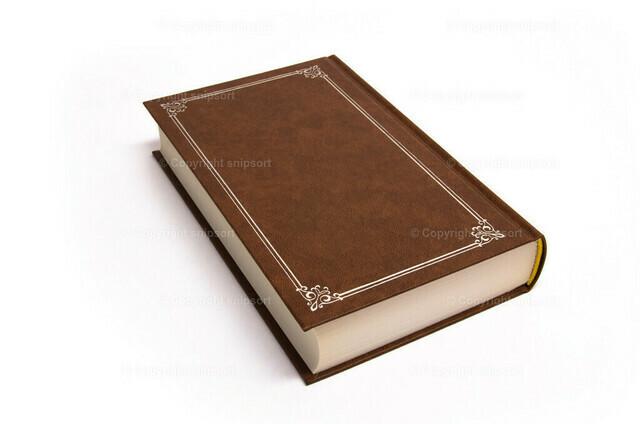 Buch (freigestellt) | Ein gebundenes Buch über weißem Hintergrund