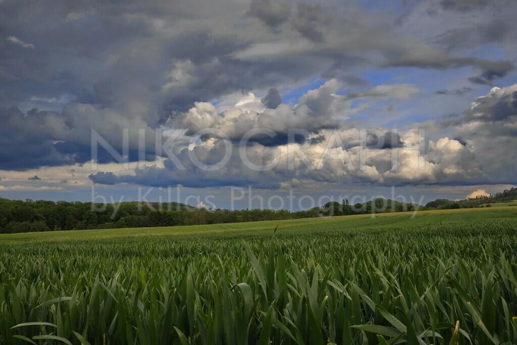 Felder unter der Wolkendecke | Felder zwischen Hemer und Iserlohn unter der Wolkendecke.