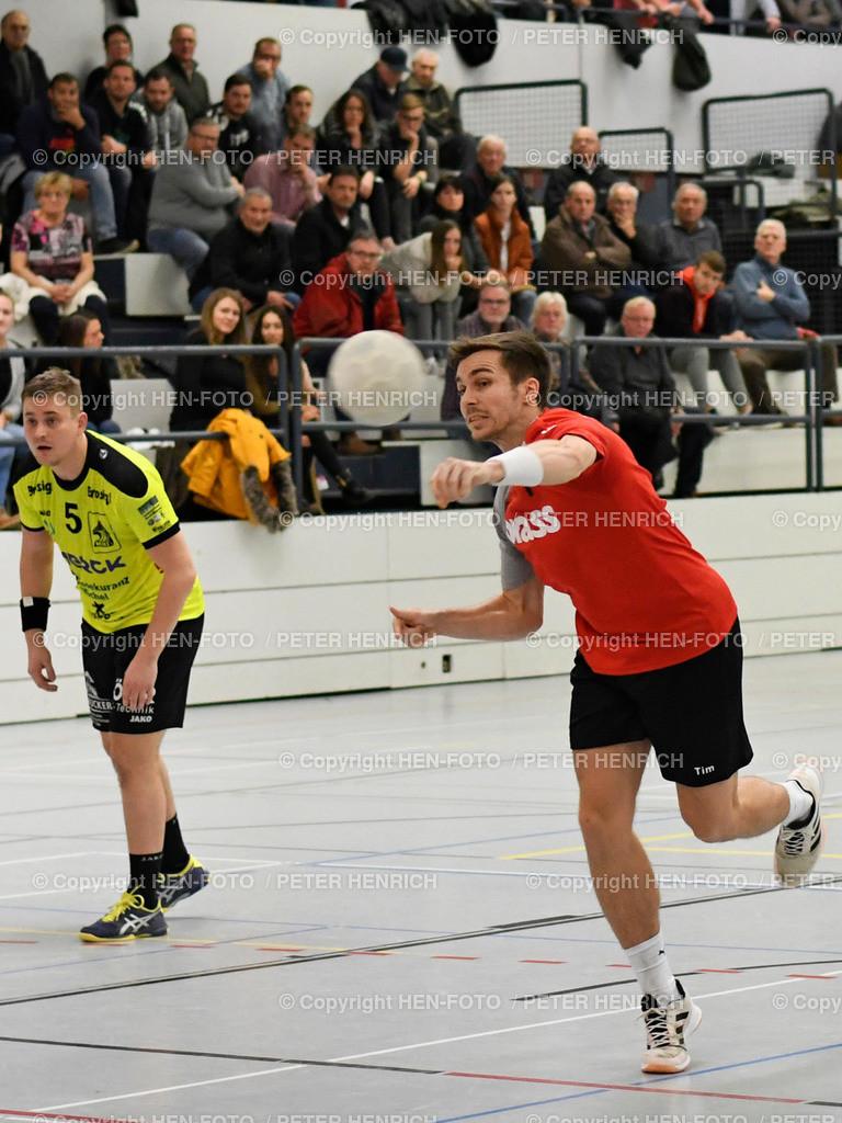 20191201 Handball MSG Rossdorf Reinheim - HSG Bieberau Modau 2 copyright by HEN-FOTO | 20191201 Handball Männer Landesliga MSG Rossdorf Reinheim - HSG Bieberau Modau 2 (27:28) wurfstark 7 Tim Pfeiffer (RR) copyright by HEN-FOTO Foto: Peter Henrich