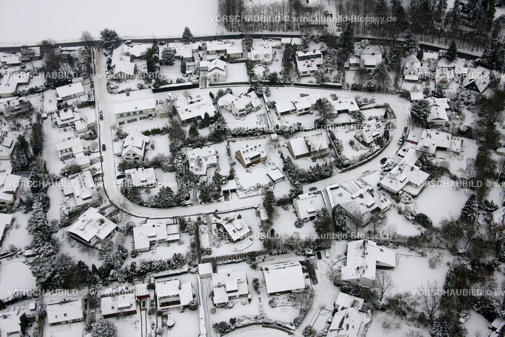 KT10011069 | Schnee,  Kettwig, Essen, Ruhrgebiet, Nordrhein-Westfalen, Deutschland, Europa, Foto: Luftbild Hans Blossey, Copyright: hans@blossey.eu, 06.01.2010, E 006° 57' 02.11