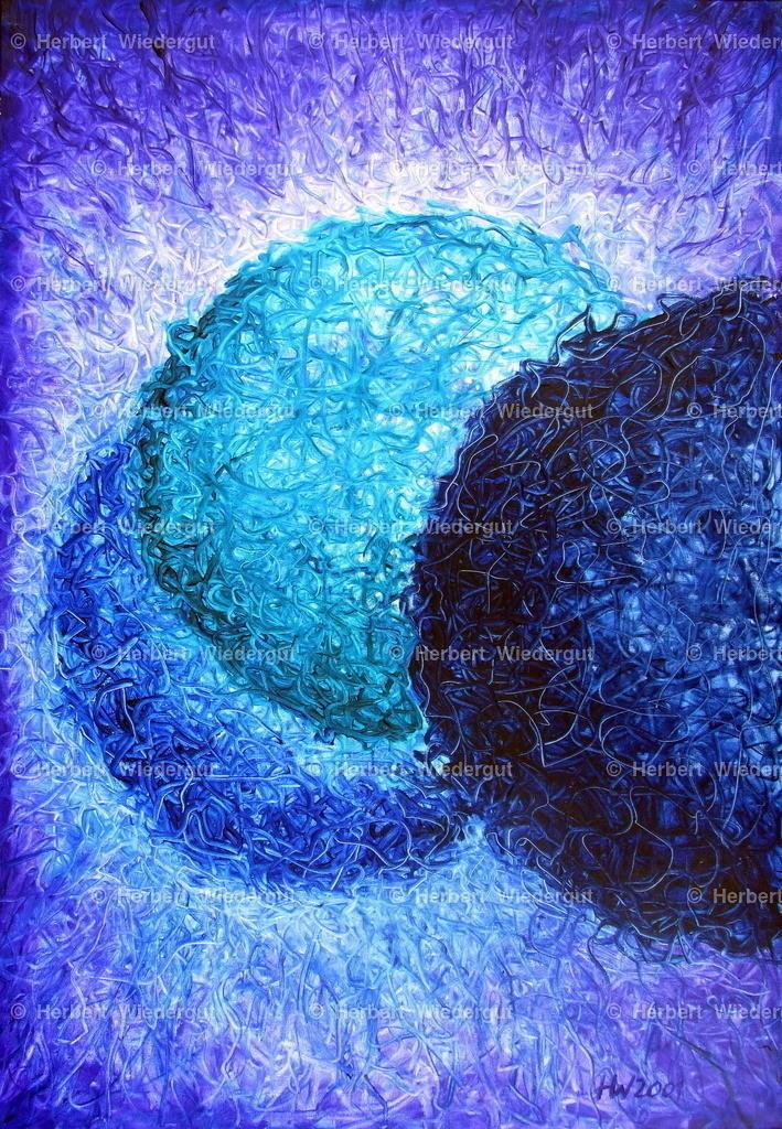 Nucleus 02 | Ölgemälde von Dr. Herbert Wiedergut zum Thama Mikrokosmos
