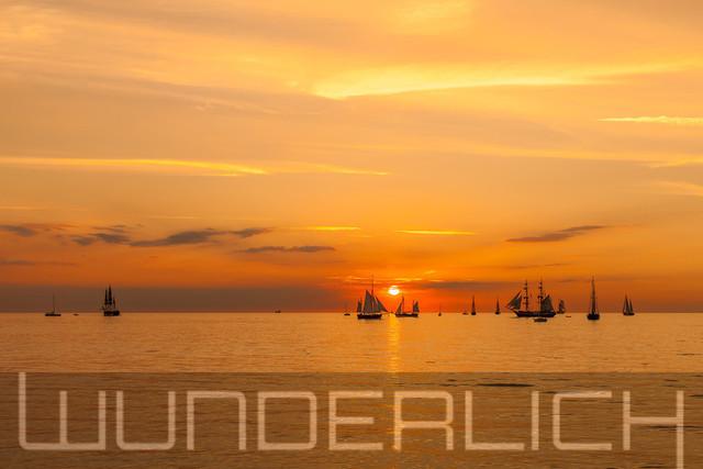 Segelboote in der Abendsonne