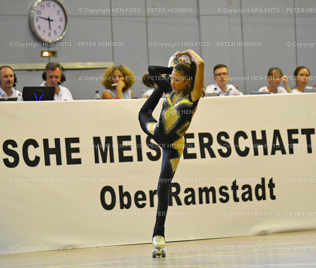 Deutsche Meisterschaften Rollkunstlauf in Ober-Ramstadt 20190802 copyright by HEN-FOTO   Deutsche Meisterschaften Rollkunstlauf in Ober-Ramstadt 20190802 Viola Wiese Mainspitz copyright + Foto: Peter Henrich (HEN-FOTO)