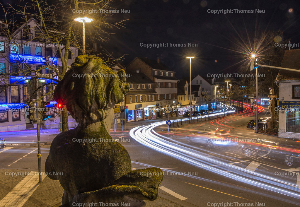 Ritterplatz | Bensheim,Bergstrasse bei Nacht, Ritterplatz, ,, Bild: Thomas Neu
