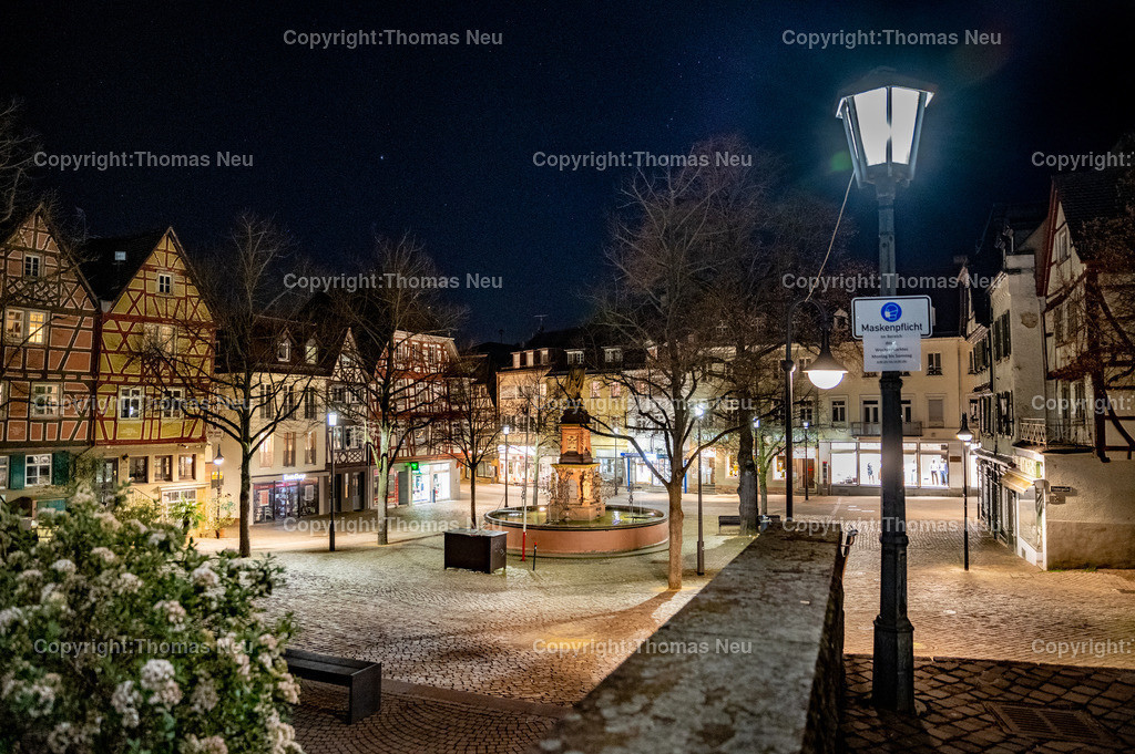 DSC_3384-HDR | Bensheim, Marktplatz, Nachtaufnahme, ,, Bild: Thomas Neu