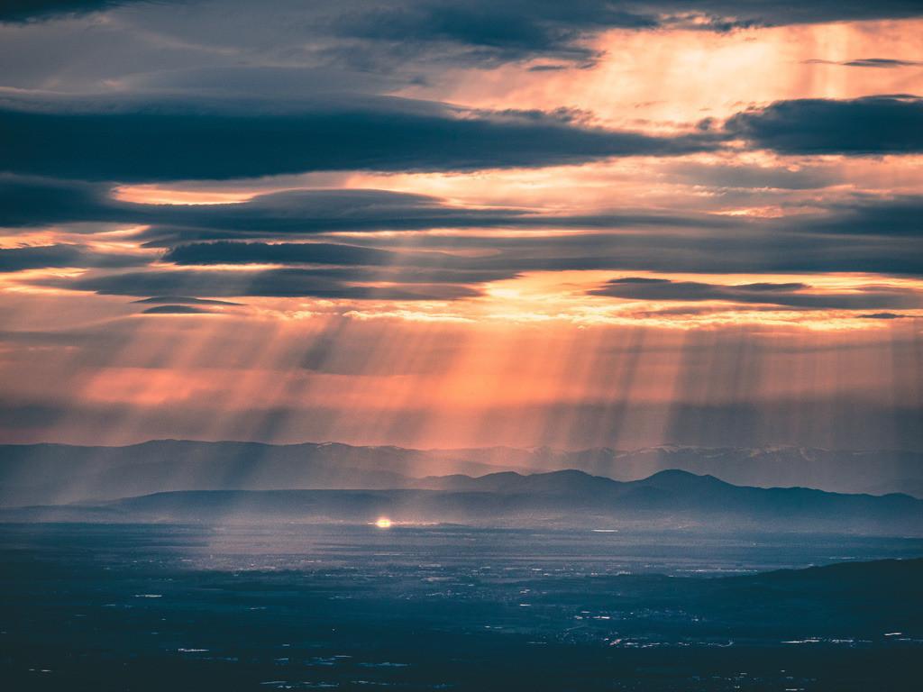 Sonnenuntergang am Kandel | Sonnenuntergang mit dramatischer Lichtstimmung am Kandel bei Waldkirch