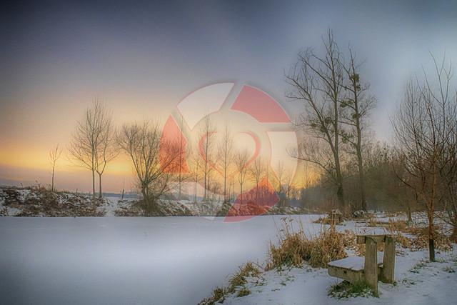 Brandl Lacke im Winter   Winterstimmung bei der Brandl Lacke am Aulehrpfad in Naarn im Machland