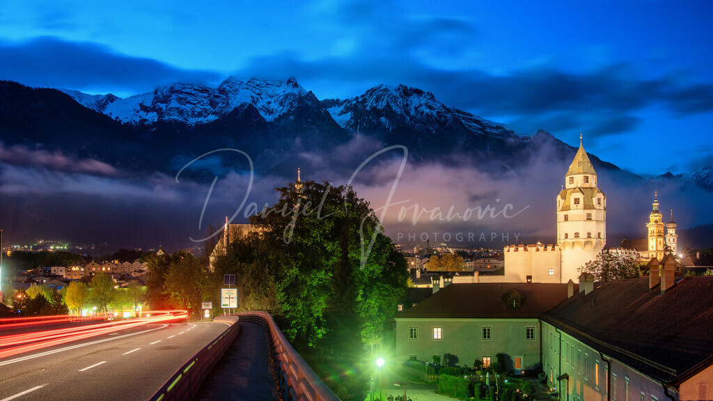 Hall in Tirol | Hall in Tirol am Abend