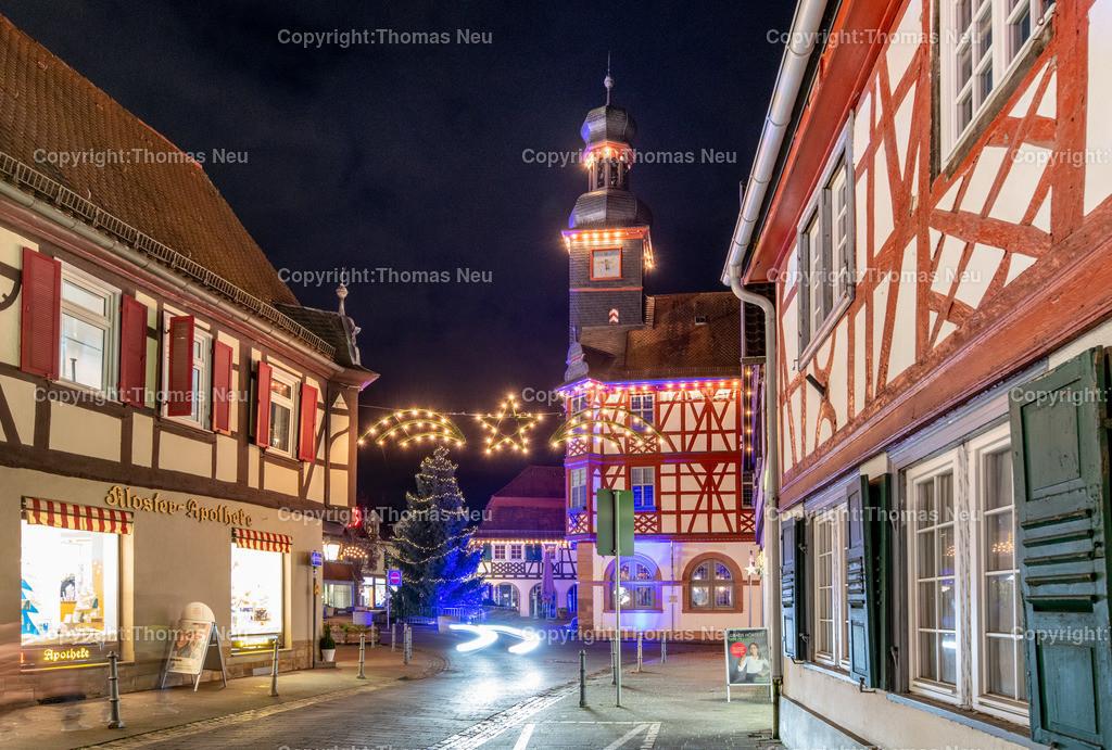 DSC_4198   ble,Lorsch, blaues Weihnachtswunder, Innenstadt, Altes Rathaus, ,, Bild: Thomas Neu