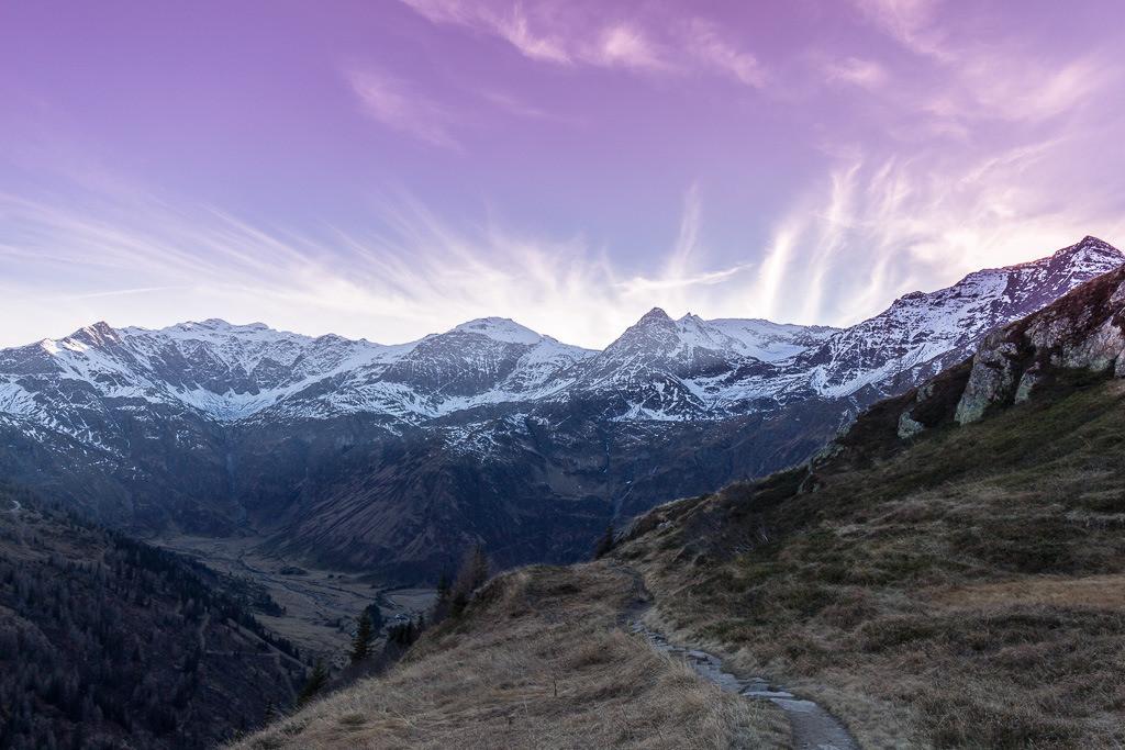 Sonnenuntergang in Bad Gastein