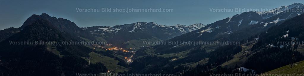Alpbachtal im Mondlicht | Der Vollmond beleuchtet den Gratlspitz und das Alpbachtal